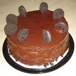 kristie's chocolate cake with oreo cream filling