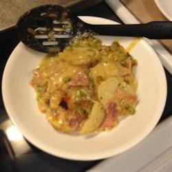 Cheesy Scalloped Potatoes with Ham Recipe