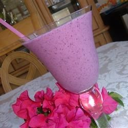 Red, White and Blue Fruit Smoothie