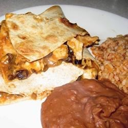 Chicken Quesadillas and Fiesta Rice