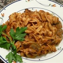 Ground Beef Noodle Casserole with Mushrooms