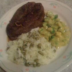 Lamb Dinner with Jasmine Rice & Peas