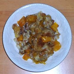 Mango Cardamom Bread Pudding