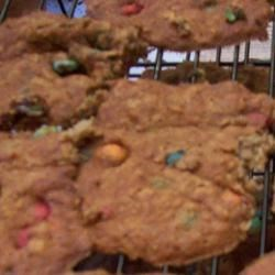Banana Oatmeal M&M Cookies