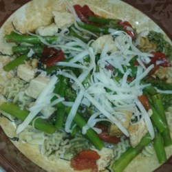 Chicken with Asparagus and Roasted Red Peppers Recipe