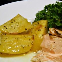 Greek-Style Lemon Roasted Potatoes Recipe