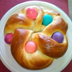 Braided Easter egg challah