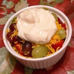 Photo of Layered Cheddar-Fruit Salad by CHRISTYJ