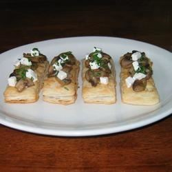 Mini Mushroom and Goat Cheese Tarts |