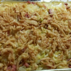 Scalloped Cabbage with Ham and Cheese Recipe