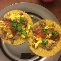 Sausage and Egg Tostadas Recipe
