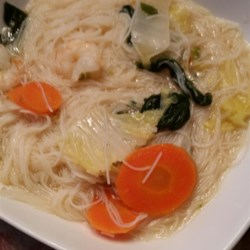 Oriental Shrimp Noodle Soup Recipe