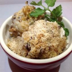 Bacon Garlic Parmesan Cauliflower Casserole Recipe