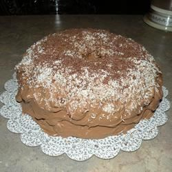 chocolate cream cheese icing with 3 kinds of chocolate shavings