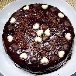 Buttermilk Chocolate Cake with Fudge Icing Recipe