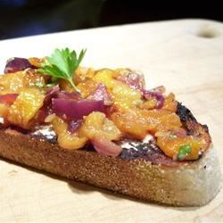 Bruschetta with Roasted Sweet Red Peppers Recipe