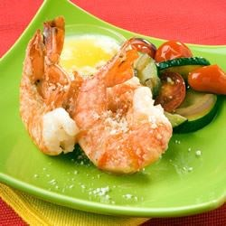 Broiled Lemon and Garlic Tiger Prawns Recipe