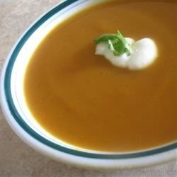 Sweet Potato and Carrot Soup with Cardamom Recipe
