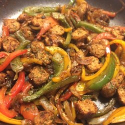 Spicy Sausage and Peppers Over Rice Recipe