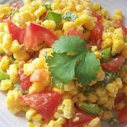 Cilantro Tomato Corn Salad Recipe