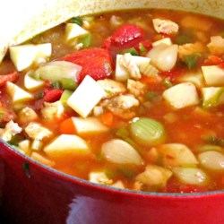 Moroccan Stew with Chicken and Pearl Onions Recipe