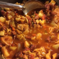 Cabbage and Smoked Sausage Soup Recipe