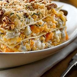 Roasted Butternut Squash Lasagna with Gorgonzola Recipe - Allrecipes ...