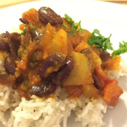 Kashmiri-Style Kidney Beans with Turnips Recipe