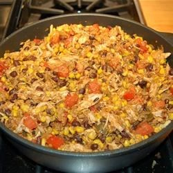 Dirty Rice in the pan
