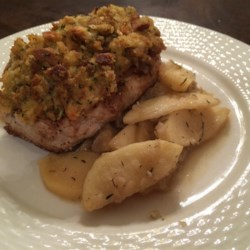 Apple Pork Chops and Stuffing Recipe