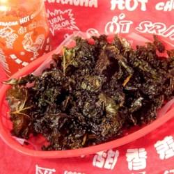 Sriracha Lime Kale Chips Recipe