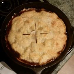 Grandma's Iron Skillet Apple Pie Recipe