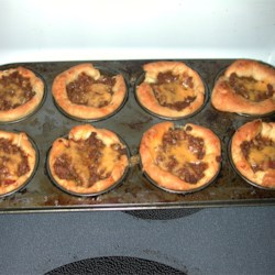 beef cups in the muffin pan