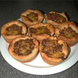 Beef Cups on a plate