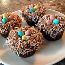Easter basket cake recipe allrecipes easter nests negle Gallery