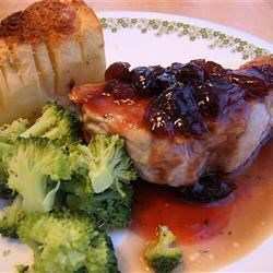 Pork Chops With Black Cherry Sauce Recipe