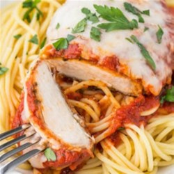 Quick baked chicken parmesan recipe allrecipes weeknight baked chicken parmesan forumfinder Image collections