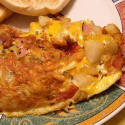 Photo of Cheddar Hash Brown Omelet by Betty  Kleberger