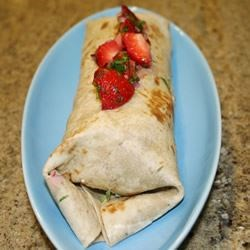 Spicy Turkey Wraps with Strawberry Salsa