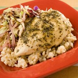 Skillet Herbed Chicken with Mustard Recipe