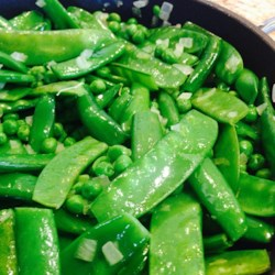 Spring Pea Medley with Edible Bowl