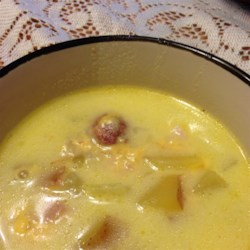 Ham, Potato, and Cheese Soup Recipe