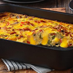 VELVEETA(R) Cheesy Bacon Brunch Casserole Recipe