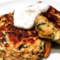 Chicken, Chive, and Feta Zucchini Fritters Recipe