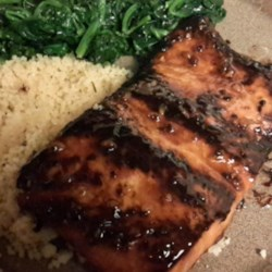 Salmon with Brown Sugar and Bourbon Glaze Recipe