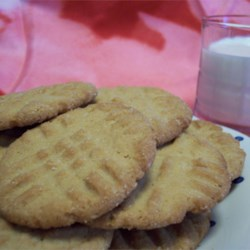 Eggless Peanut Butter Cookies Recipe