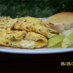 Egyptian Feta Cheese Omelet Roll Recipe