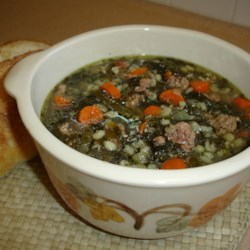 Sausage Barley Soup Recipe