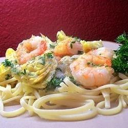 Shrimp and Artichoke Linguine Recipe