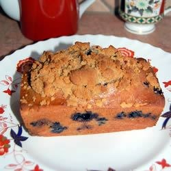 Blueberry Zucchini Bread with Crumb Topping